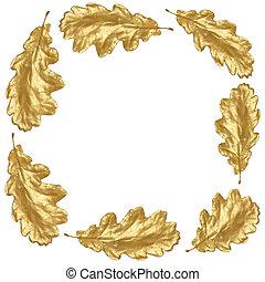 Golden Oak Leaf Frame