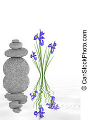Zen Garden Beauty - Zen abstract of spa stones in perfect...