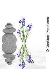 Zen Garden Beauty - Zen abstract of spa stones in perfect...