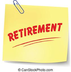 Vector retirement note