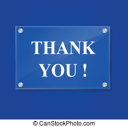 Vector thank you sign