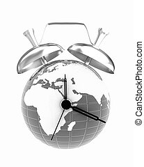 3d illustration of world alarm clock
