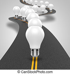 Path to success - The road leading to the ideas and...