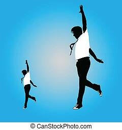 man jumping vector illustration