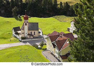 Mountain village church in Tirol, Austria - Vent, Alps