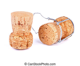 Champagne Corks - Cortical Champagne Corks with Wire...