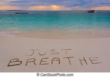 respirar, apenas, sinal