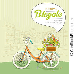 Bicycle pots flower design