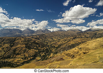 Cordillera Negra in Peru - Picturesque view of the valleys...