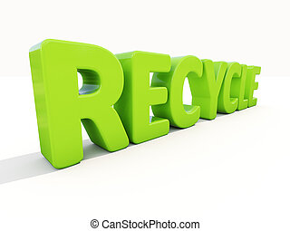 3d word recycle