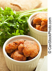 Fish fritters - Homemade cod fish fritters, ready to eat.