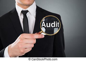 hombre de negocios, actuación, auditoría,...