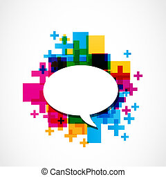 positive speech balloon vector
