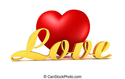 red heart with golden describe in front of them on the...