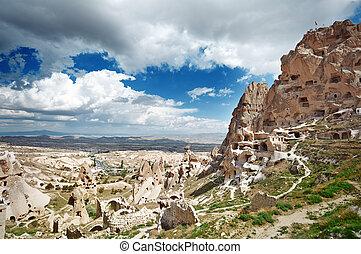 Ancient stony houses in Cappadocia