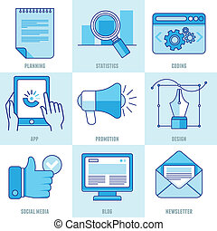 Vector internet business infographic design elements and...