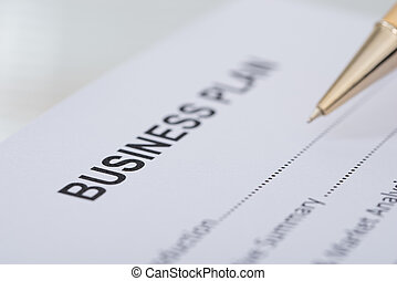 Pen Business Plan Form - Cropped image of pen business plan...