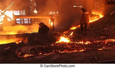 Metallurgical industry, working in the foundry, production...