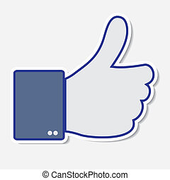 Like it, thumb up icon. Vector illustration