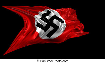 Swastika Nazi flag - 3D animation of the Swastika Nazi flag...