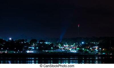 Moving Spotlights at the Night Festival