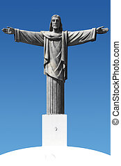 Jesus Christ statue - Statue of Jesus Christ with impressed...