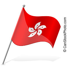 flag of Hong Kong vector illustration