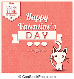 Valentine's day card typographic - Valentine's day card with...