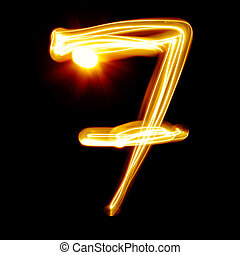 Created by light numerals - Seven - Created by light...