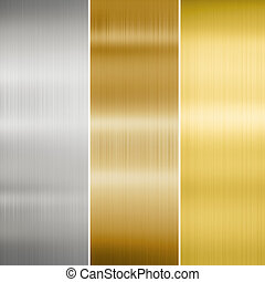 metal texture: gold, silver and bronze - metal texture:...