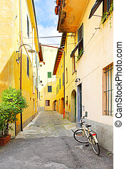 Old side street in Lucca, Italy