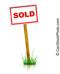 For sale - Real Estate Sign – For sale 2D artwork...