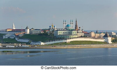 kazan kremlin at sunset - russia