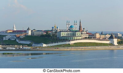 timelapse kazan kremlin at sunset - russia
