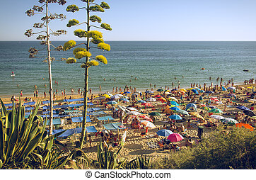 Algarve Beach - ALGARVE, PORTUGAL - JULY 22nd 2014:...