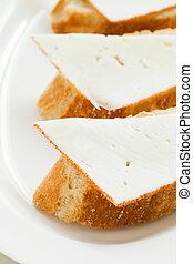 """Queso de cabra - Sheep cheese tapas called """"Queso de cabra""""..."""