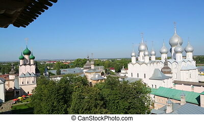Panorama of Kremlin in ancient town Rostov the Great, Russia...