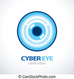 Cyber eye symbol icon - Cyber blue eye symbol icon design....