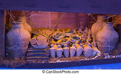 Recreation of a lagan in Bodrum Castle Museum, Turkey