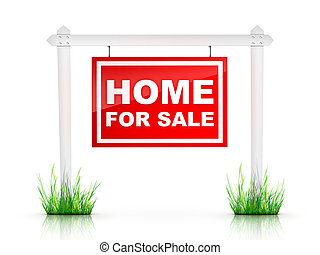 For Sale - Real Estate Sign %u2013 For sale. 2D artwork....