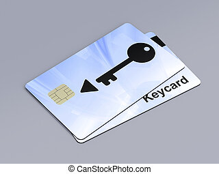 Keycards - Two keycards on gray background