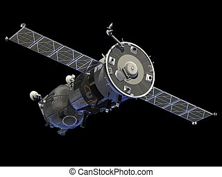 "Spacecraft ""Soyuz"". 3D Model."
