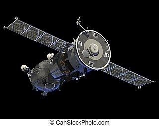 """Spacecraft """"Soyuz"""". 3D Model."""