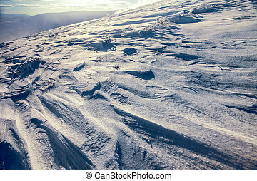 Winter landscape Ukraine, the Carpathian mountains