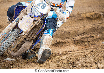 Motocross - Closeup of a motocross bike