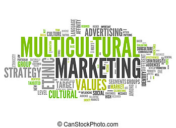 Word Cloud Multicultural Marketing - Word Cloud with...