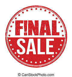 Final sale stamp - Final sale grunge rubber stamp on white...