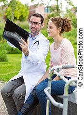 Significado,  explaning, radiografía,  doctor