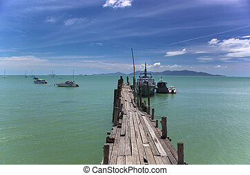 Bo Phut Pier Koh Samui - An image of Bo Phut Pier on the...