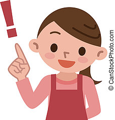 Housewife Pointing - Vector illustration